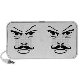 Serious Moustache Man Mini Speakers