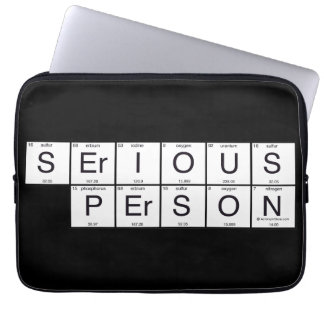 Serious Person Laptop Computer Sleeves
