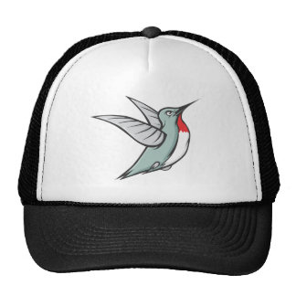 Serious Ruby Throated Hummingbird Hats