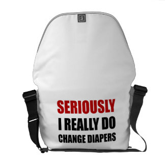 Seriously Change Diapers Courier Bags