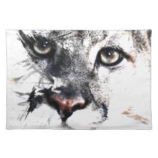 Seriously cougar animal art place mats
