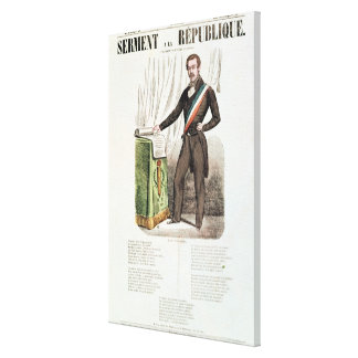 Serment a la Republique', Canvas Print
