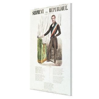 Serment a la Republique', Gallery Wrapped Canvas