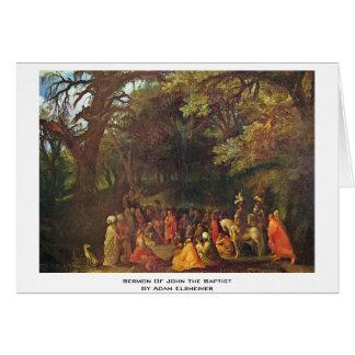 Sermon Of John The Baptist By Adam Elsheimer Card