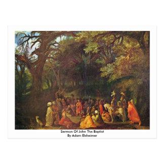 Sermon Of John The Baptist By Adam Elsheimer Postcards