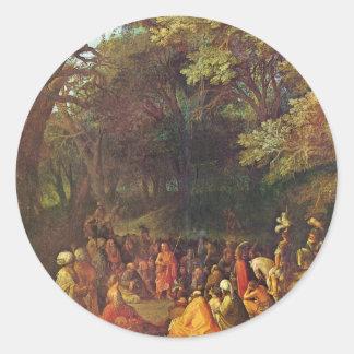 Sermon Of John The Baptist By Adam Elsheimer Stickers