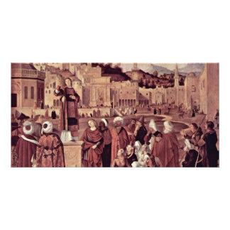 Sermon Of St. Stephen At The Gates Of Jerusalem Customized Photo Card