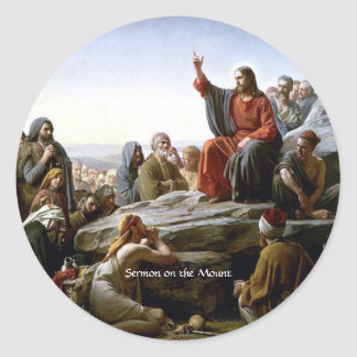 Sermon on the Mount Classic Round Sticker