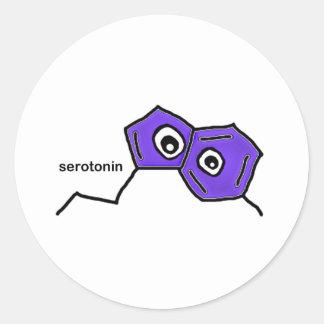 Serotonin Neurotransmitter Classic Round Sticker