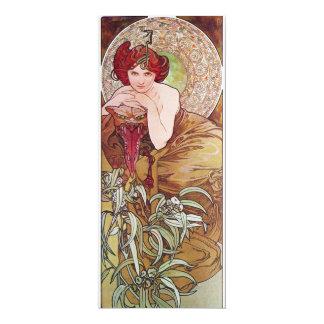 """Serpent Art Nouveau 4"""" X 9.25"""" Invitation Card"""