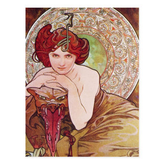 Serpent Art Nouveau Postcard