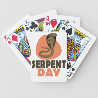 Serpent Day - Appreciation Day Bicycle Playing Cards