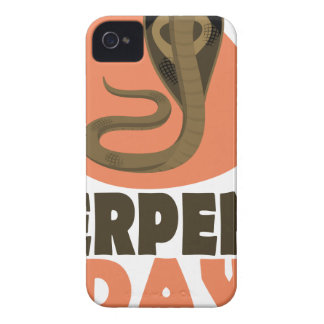 Serpent Day - Appreciation Day iPhone 4 Case-Mate Case