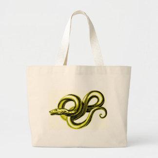 SERPENT (GOLD) MYTHOLOGICAL CREATURE VINTAGE PRINT JUMBO TOTE BAG