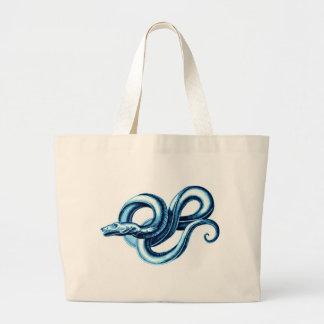 SERPENT IN BLUE - MYTHOLOGICAL CREATURE VINTAGE PR JUMBO TOTE BAG