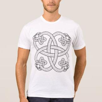 Serpent Pattern Poly-Cotton Blend T-Shirt