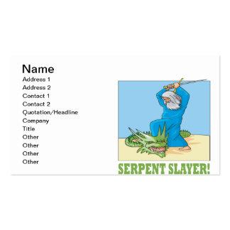 Serpent Slayer Pack Of Standard Business Cards
