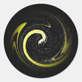 Serpent Symbol Classic Round Sticker