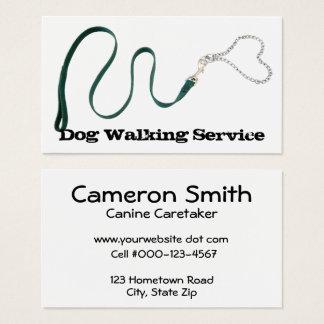 Serpentine Green Leash & Heart Chain Business Card