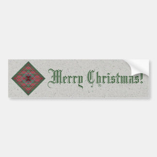 Serpinski's Squares Quilted Christmas Fractal Bumper Sticker