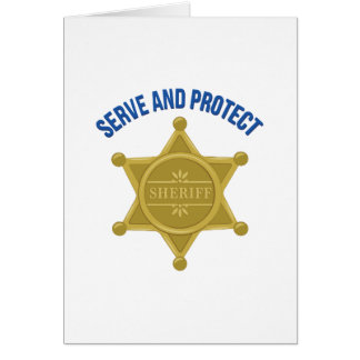 Serve And Protect Card