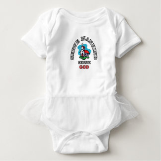 serve god church baby bodysuit