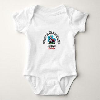 serve god church baby bodysuit