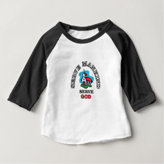 serve god church baby T-Shirt