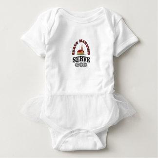 serve god serve mankind art baby bodysuit