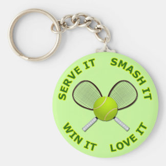 Serve It - Smash It - Win It - Love It Key Ring