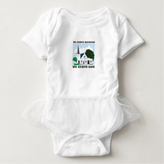 serve mankind serve god love baby bodysuit