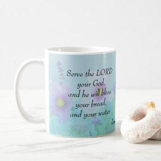 Serve the Lord your God, Exodus 23 Coffee Mug