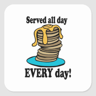 Served All Day Square Sticker