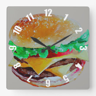 served very quickly square wall clock