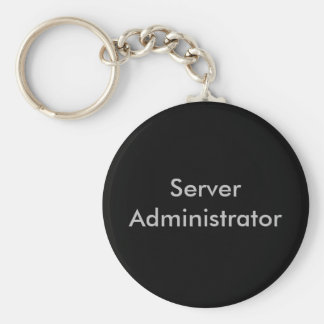 Server Administrator Basic Round Button Key Ring