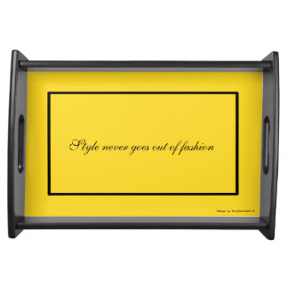 Server black/yellow serving platters
