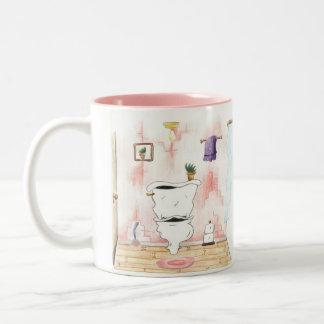 SERVER-D6KI8EMG2858, the happy little toilet Two-Tone Mug