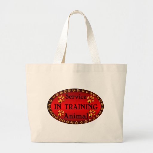 Service Animal IN TRAINING Paw Prints2 Tote Bag