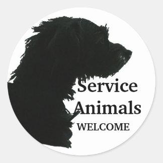 Service Animals Welcome Sticker