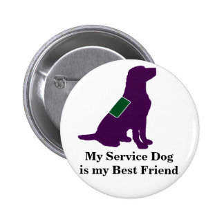 Service Dog 6 Cm Round Badge