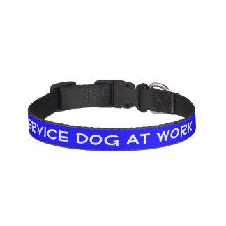 Service Dog At Work (small) Pet Collar