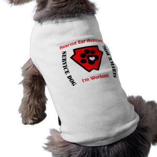 Service Dog Customizable Super Hero Shield Shirt