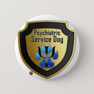 Service Dog Helpers Blue Jelly 6 Cm Round Badge