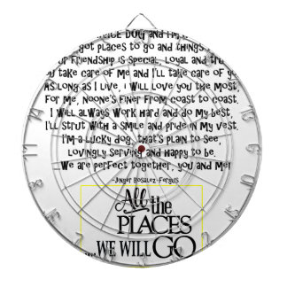 Service dog poem FNL BACK yellow Dartboard