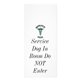 Service dog tag rack card