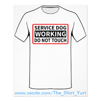 Service Dog Working Please Do Not Touch 11.5 Cm X 14 Cm Flyer