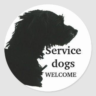 Service Dogs Welcome Classic Round Sticker