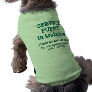 Service Puppy Training/Loving it! Sleeveless Dog Shirt