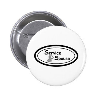Service Spouse Logo Pinback Buttons