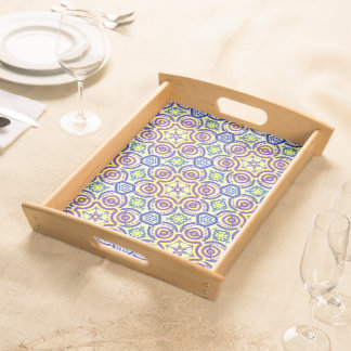 Service tray Jimette Design purple blue yellow